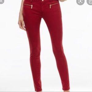 Michael Kors red skinny jeans. Like new